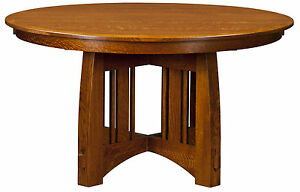 Image Is Loading Amish Mission Craftsman Round Pedestal Dining Table Solid
