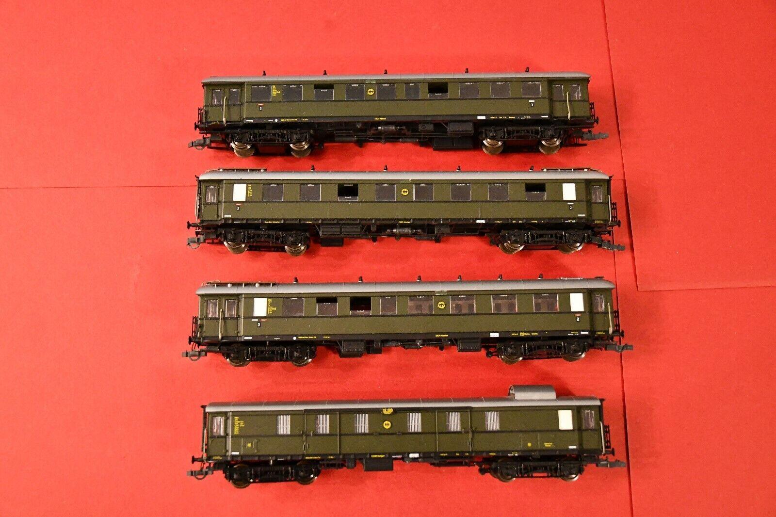 Roco h0 4 coches-Imperio alemán tren
