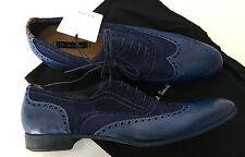 Paul Smith DIP DYE Blue Miller Brogues Leather WingTip UK7 / UK7.5 EU41 / 41.5