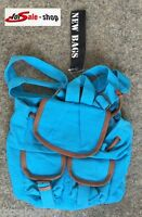 Damen Tasche Handtasche Umhängetasche Shoppen Rucksack aqua