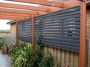 Aluminium-Slat-Screen-Fence-100-x-16mm-Double-Ribs-Strong-Slats-UV-Kits
