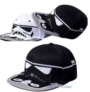 42682ed505c Star Wars Snapback Strapback Darth Vader Face Baseball Cap Men Women ...