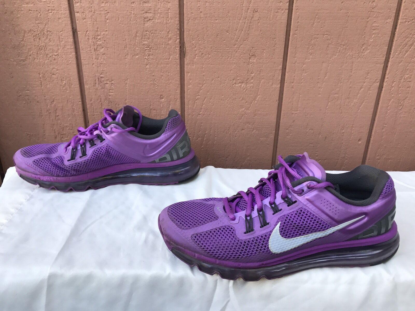 EUC EUC EUC NIKE AIR MAX+ LASER PURPLE Women's Running shoes US 11 2067ab