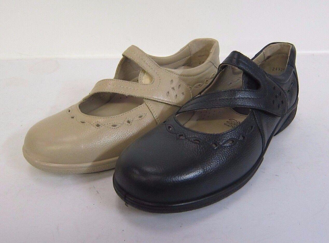 78420- Femmes Simple B fermeture scratch Chaussures Indigo