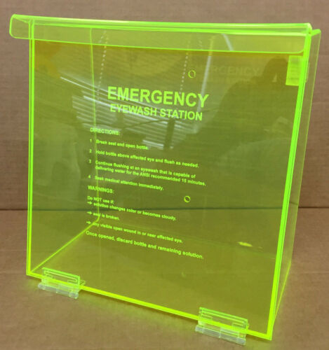 Wall Mount NEW Unused Emergency Eyewash Station Neon Box