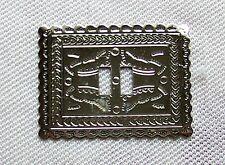 Concho Inka Schrift 2 Stück 5,5x4 cm Concha Conchas Western Cowboy Leder Weste