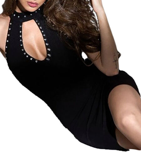 Ma Ohne Strass Sexy Woman Stretch Kleid Ausschnitt Kurz Fallen 08wvqvZgx