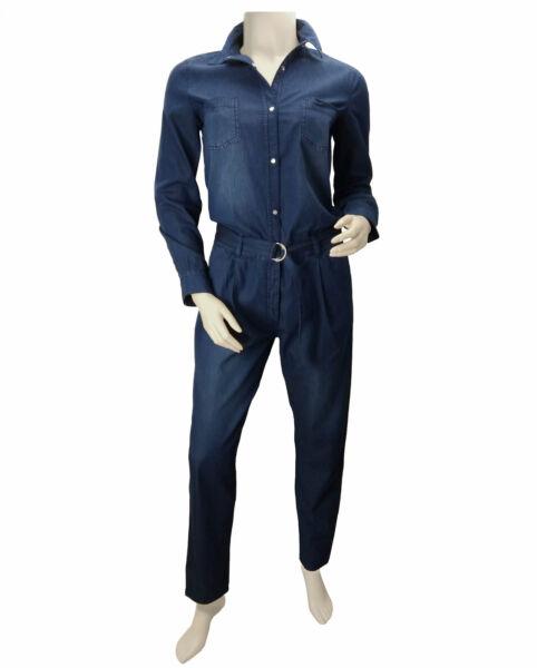 Damen Jumpsuit Overall Jeans Denim Einteiler Langarm Baumwolle Lang TCM Tchibo