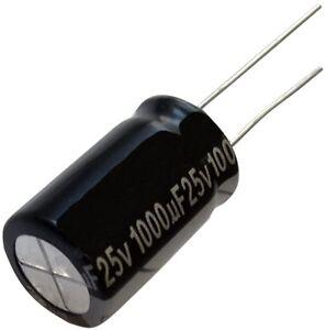 5x Condensateur Chimique Low Esr 1000µf 25v Tht 105°c 10000h Ø12.5x20mm Radial Riwfsuht-07163746-382102477