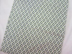 Vintage-Feedsack-Fabric-Lime-Green-Tiny-Circle-Pattern-Quilting-Sewing-Crafts
