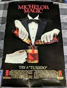 MICHELOB-DARK-BEER-1984-MICHELOB-MAGIC-TRY-A-TUXEDO-POSTER-MAN-CAVE