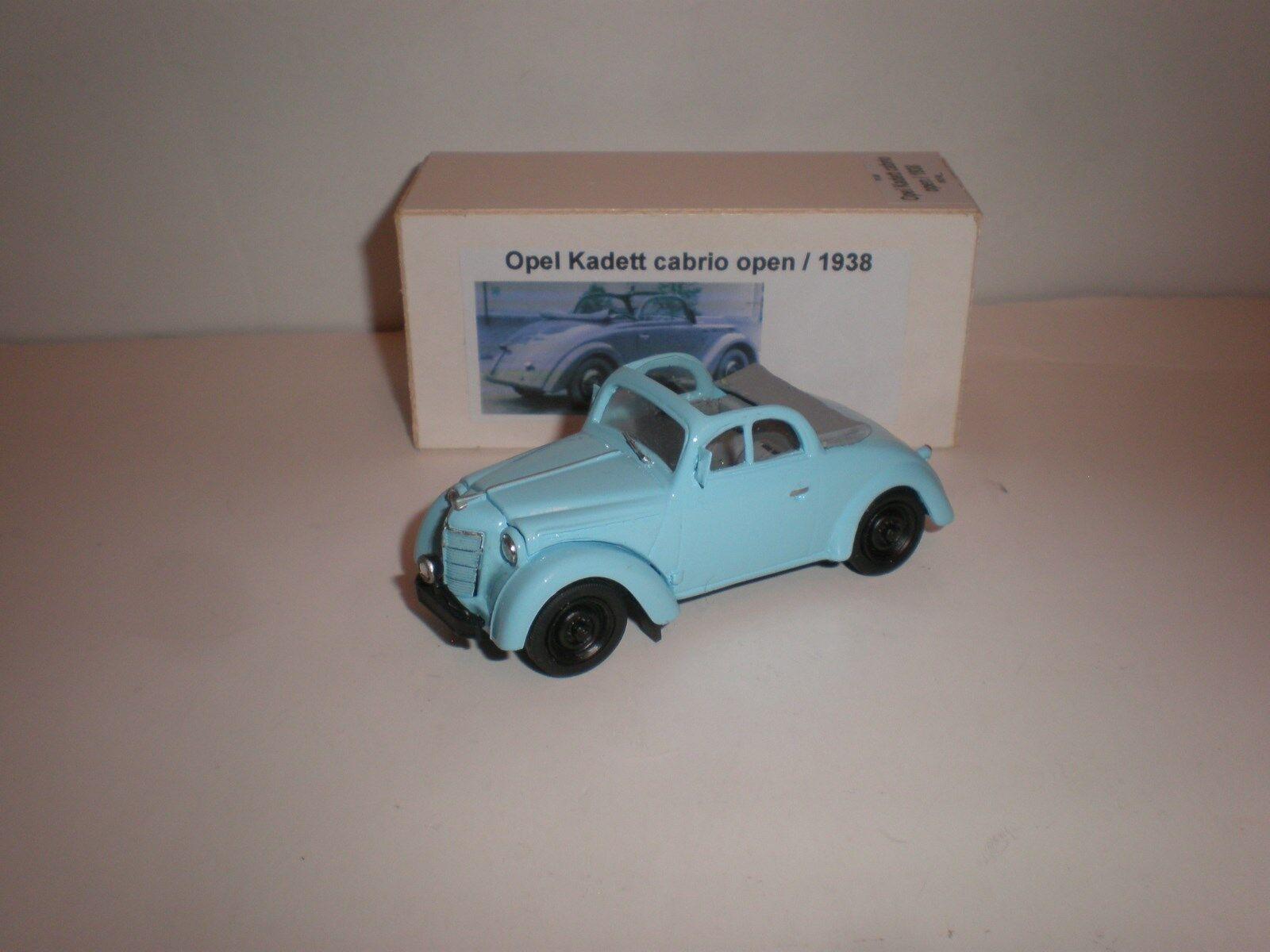 1 43 1938 Opel Kadett cabriolet open light bluee