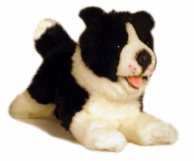 Border Collie Plush Stuffed Soft Toy Dog 28cm/11in- Patch by Bocchetta