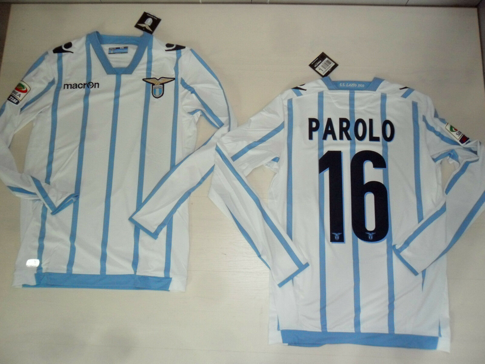 FW14 MAGLIA LAZIO PREPARATA PAROLO ISSUE MATCH SHIRT MANICA MANICA MANICA LUNGA LONG  30 dc6925