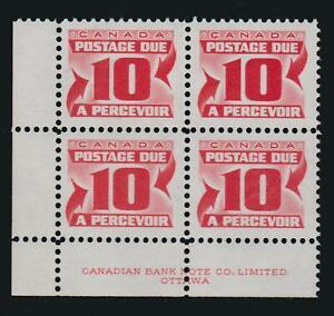 "1973-74 Canada SC# J35ii UL ""Third Issue"" Postage Due LF Plate Block M-NH #BB75c"