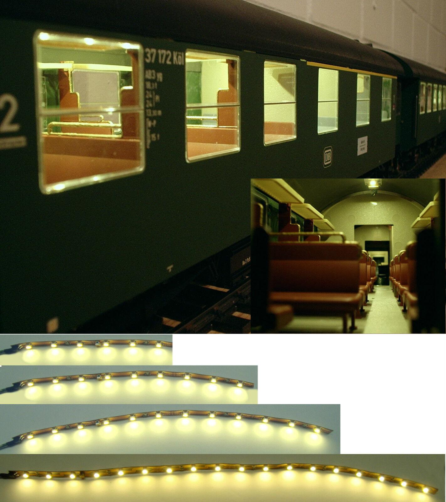 LED Personenwagen Beleuchtung Waggonbeleuchtung warmwhite  analog & digital