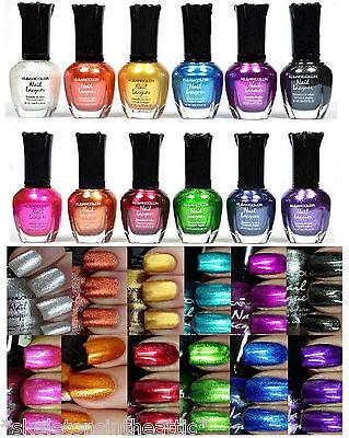 12 PCS New Kleancolor FULL SIZE METALLIC LOT Nail Polish Colors
