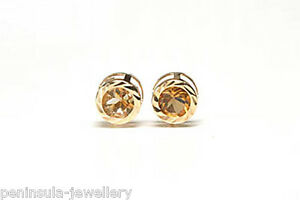 9ct-Gold-Citrine-stud-Earrings-Gift-Boxed-studs-Made-in-UK-Birthday-gift