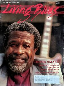 LIVING-BLUES-MAGAZINE-104-1992-Drink-Small-TOMMY-McCLENNAN-Slide-Guitar