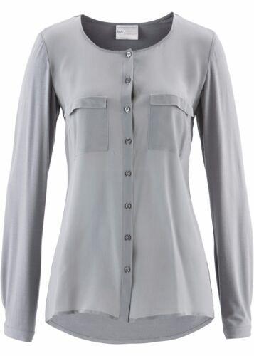 Damen Feminines Blusenshirt mit Rundhals-Ausschnitt NEU