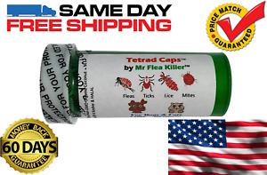 100 Capsules Tetrad Caps Dog 75-125lb Rapid Flea Lice Mite Killer Control 4
