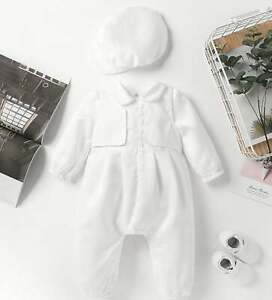 White Linen Baby Boy Overalls Baby Boy Dedication Baby Boys Baptism Oufit Overall Shorts Blessing Outfit Boy Boys Christening Suit