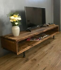 Image Is Loading Tv Stand Cabinet Reclaimed Wood Unit