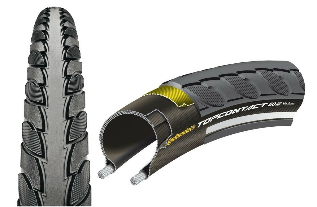 Continental Bike Tyre Top Contact II all Sizes Wire