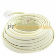 50 FT Feet RJ11 4C Modular Telephone Extension Phone Cord Cable Line Wire Beige
