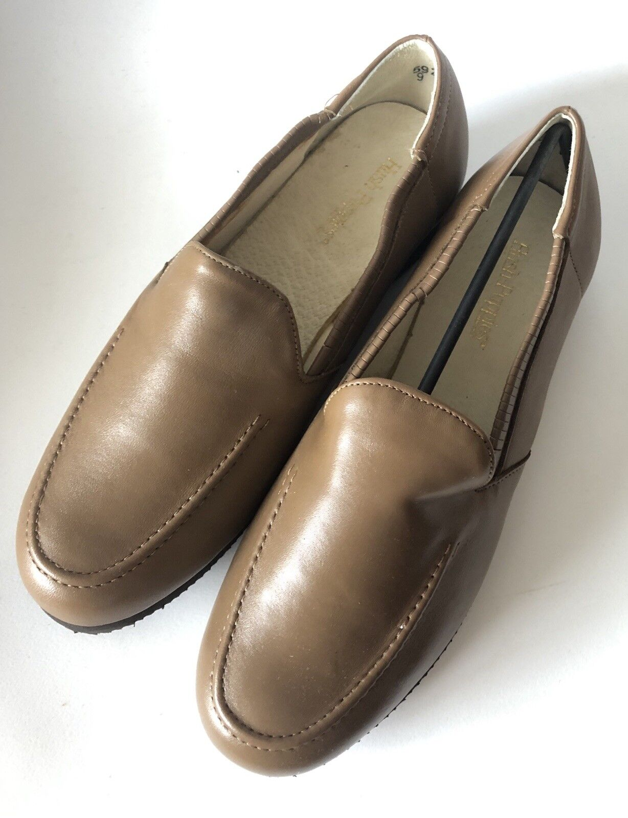 Hush Puppies New Vintage Brown Hard Sole Slippers 9 W New Dutchess Wallaby Cork