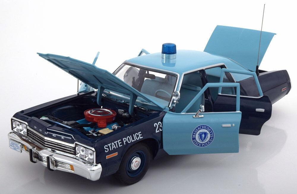 DODGE MONACO 1974 MASSACHUSETTS STATE POLICE ERTL AMM123 1  18 1 18 bilVÄRLD