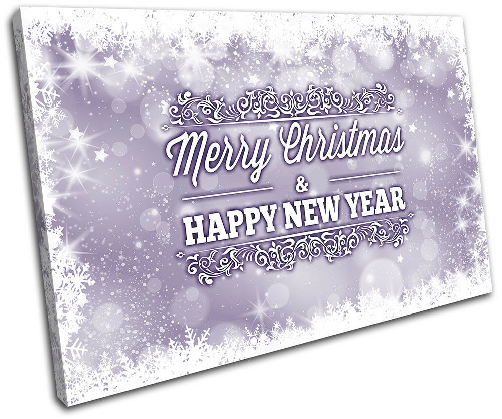 Christmas Decoration Wall Canvas ART Print XMAS Picture Gift Bokeh 16 violet Chr