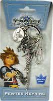 Kingdom Hearts Riku's Keyblade Metal Key Chain Pewter Keyring Official