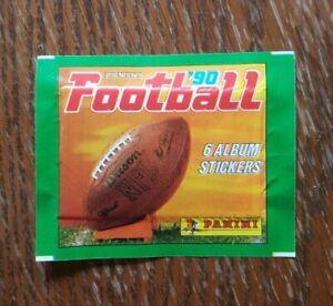 Panini-1-Tuete-Baseball-1990-NFL-90-Bustina-Pochette-Packet-Pack-Sobre-Football
