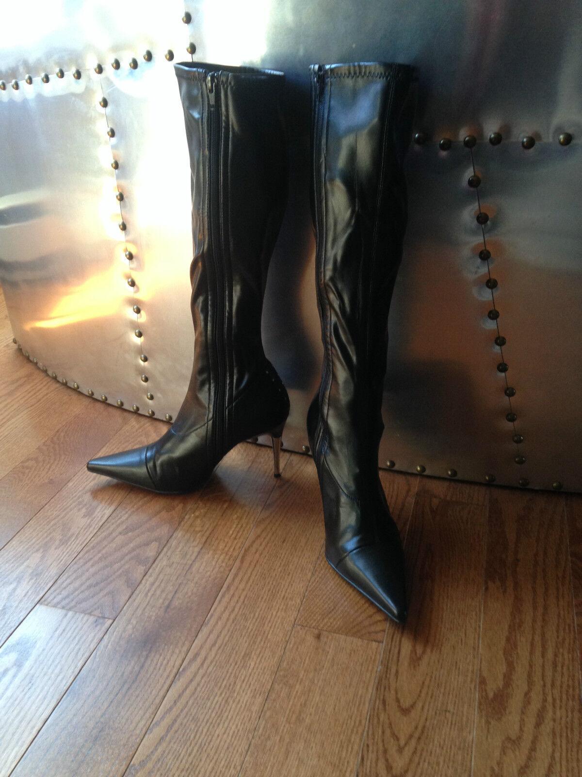 Brand New Sexy Womens Knee high Boots Nightclub High Slim Nail Heel SZ 8