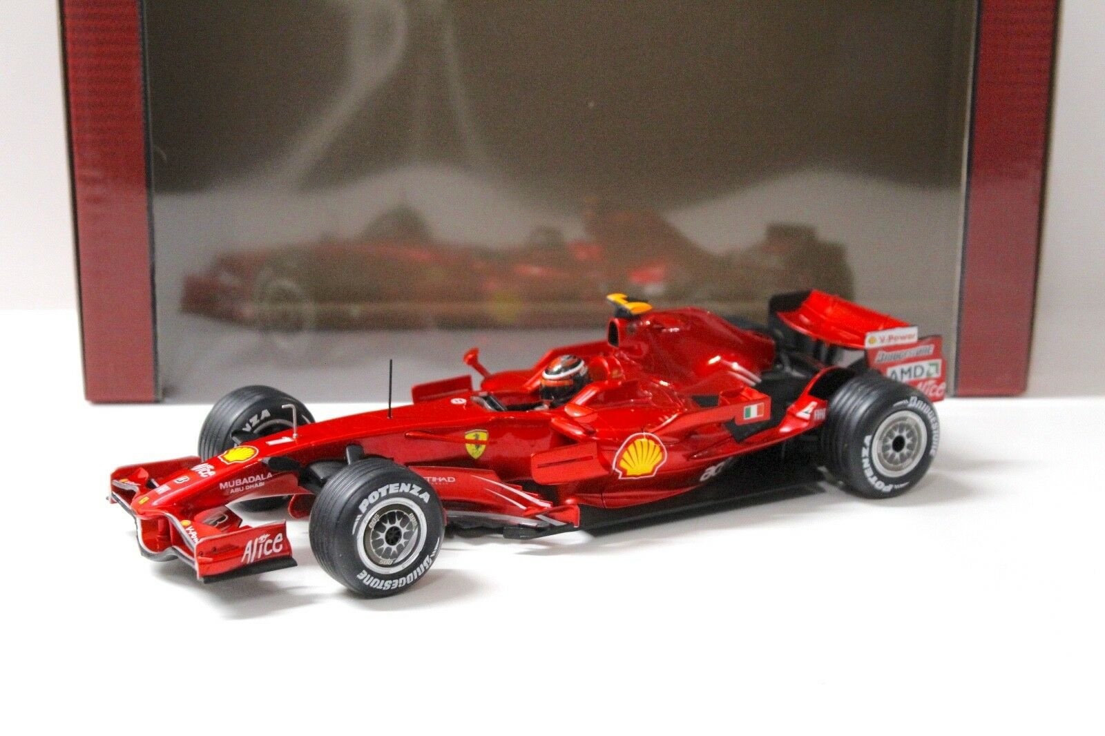 1:18 HOT WHEELS FERRARI f2008 f1 Kimi Raikkonen  1 rosso NEW in Premium-MODELCARS