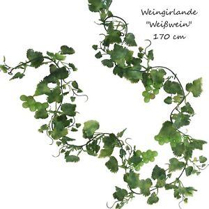 Weisswein-Weingirlande-170-cm-kuenstlich-Weinrebe-Rebe-Weinranke-Ranke