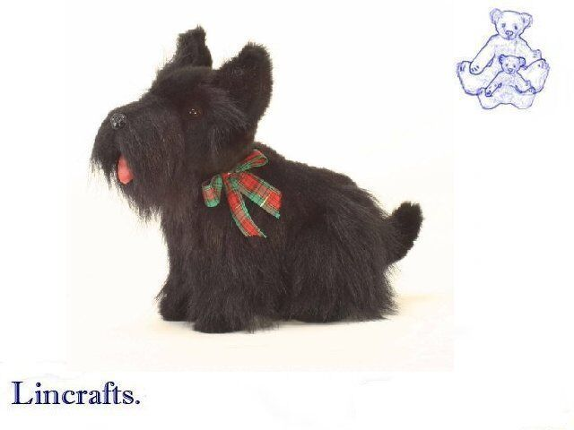 Hansa Scotish Terrier 4128 Plush Soft Toy Dog Sold by Lincrafts Established 1993
