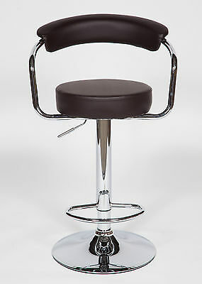 2 Modern Adjustable Counter Swivel Pub Style Bar Stools / Barstools Brown