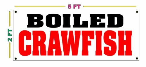 BOILED CRAWFISH BANNER Sign NEW
