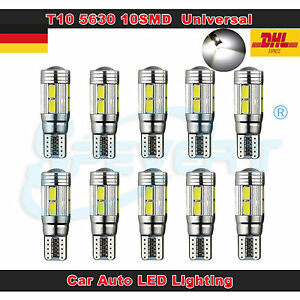 10x T10 10SMD 5630 CREE LED Xenon 501 168 194 Canbus Standlicht Weiß Beleuchtung