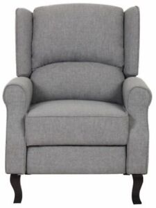Peachy Details About Gray Modern Wingback Recliner Chair Grey Accent Chairs Linen Fabric Recliners Dailytribune Chair Design For Home Dailytribuneorg