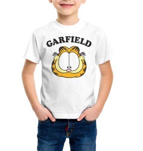 Quality T-shirt  Short Sleeve Top Garfield Face Funny Kids Boys