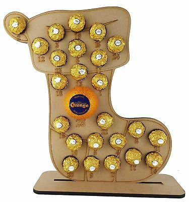 Advent Stocking Fits Terry Chocolate Orange /& Ferrero Rocher or Lindt Chocolates
