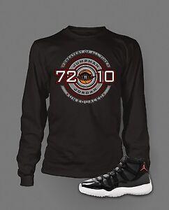 00e04e82f10ad1 Tshirt to Match Air Jordan 11 72-10 Shoe Mens Long Sleeve Pro ...