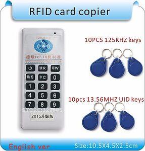 Strongset Handhel125Khz-13.56MHZ 5 frequecny access RFID card Duplicator/Copier