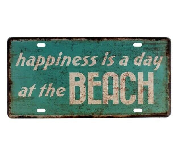 Happiness Is A Day At The Beach Tin Sign