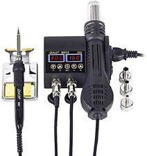 2 In 1 750w Soldering Station Hot Air Gun Heater Lcd Digital Welding Station Kit