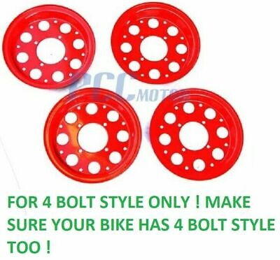 "8/"" HONDA MINITRAIL Z50 Z50R Z 50 FRONT AND REAR RIMS WHEEL SET NEW RED M RM14"