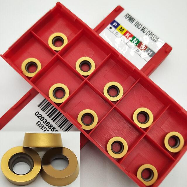 RPMW 1003M0 RPMW1003MO Milling cutter Carbide Inserts CNC TOOL  10Pcs